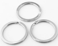 Metal key fobs ring ± 32mm